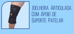 Joelheira Articulada com Apoio de Suporte Patelar